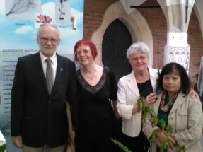 botanicy od lewej profesorowie B. Zemanek Halina Gabryś Elzbieta Kuta Alicja Zemanek
